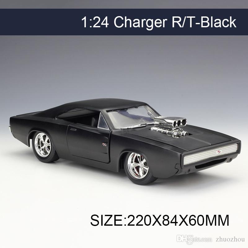 2018 Jada 1:24 Model Car Charger R/T Black Metal Vehicle Play ...