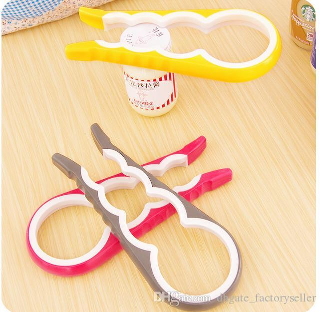 4 In 1 Gourd-shaped Can Opener Multi Purpose Screw Cap Jar Openers Bottle Lid Grip Wrench Kitchen Accessories DHL