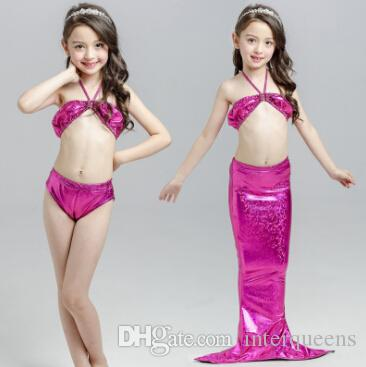حورية البحر ثوب السباحة الأطفال الأمريكيين والأوروبيين، وحورية البحر قليلا ملابس السباحة الذيل، فتاة الشاطئ بيكيني بيكيني