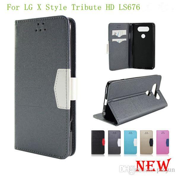 02e597f61e3 Protectores Celulares Para LG X Style Tribute HD LS676 LG X POWER K210 K6P  Flip PU Funda De Cuero De Alta Calidad Con Soporte Para Billetera Con  Soporte ...