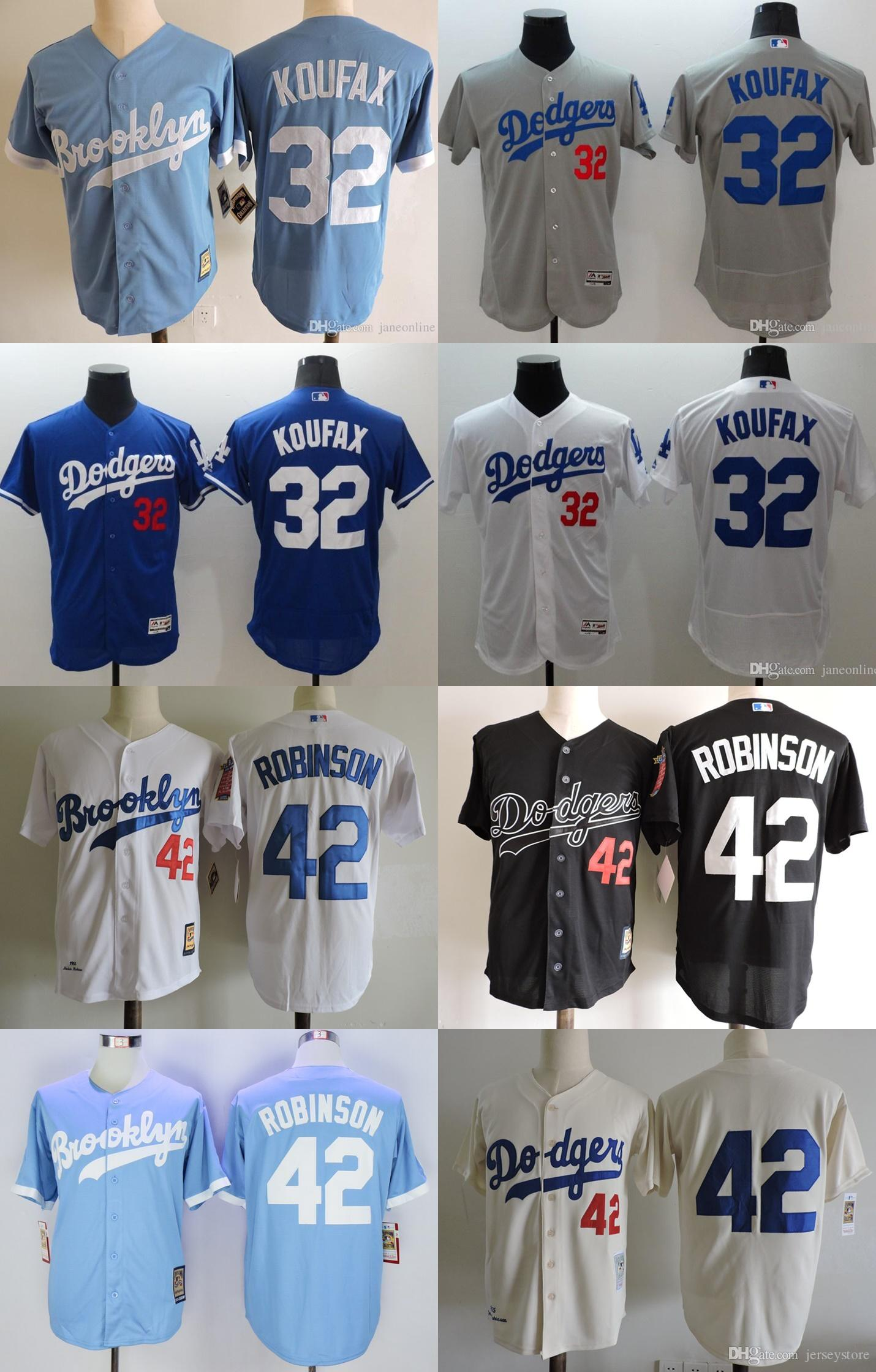 6ce04724 ... 2017 Los Angeles Dodgers 1955 42 Jackie Robinson Cream Throwback Jersey  32 Sandy Koufax Jersey Baby ...