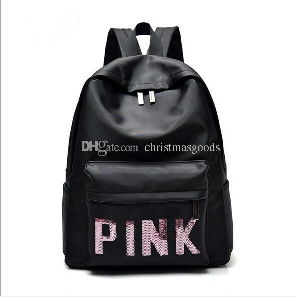 Brand Women Backpack Large Capacity School Bags For Teenager Girls Pink  Letters Sequins Travel Bag Girls Laptop Backpack Toddler Backpacks Cheap  Backpacks ... 9203bc4935