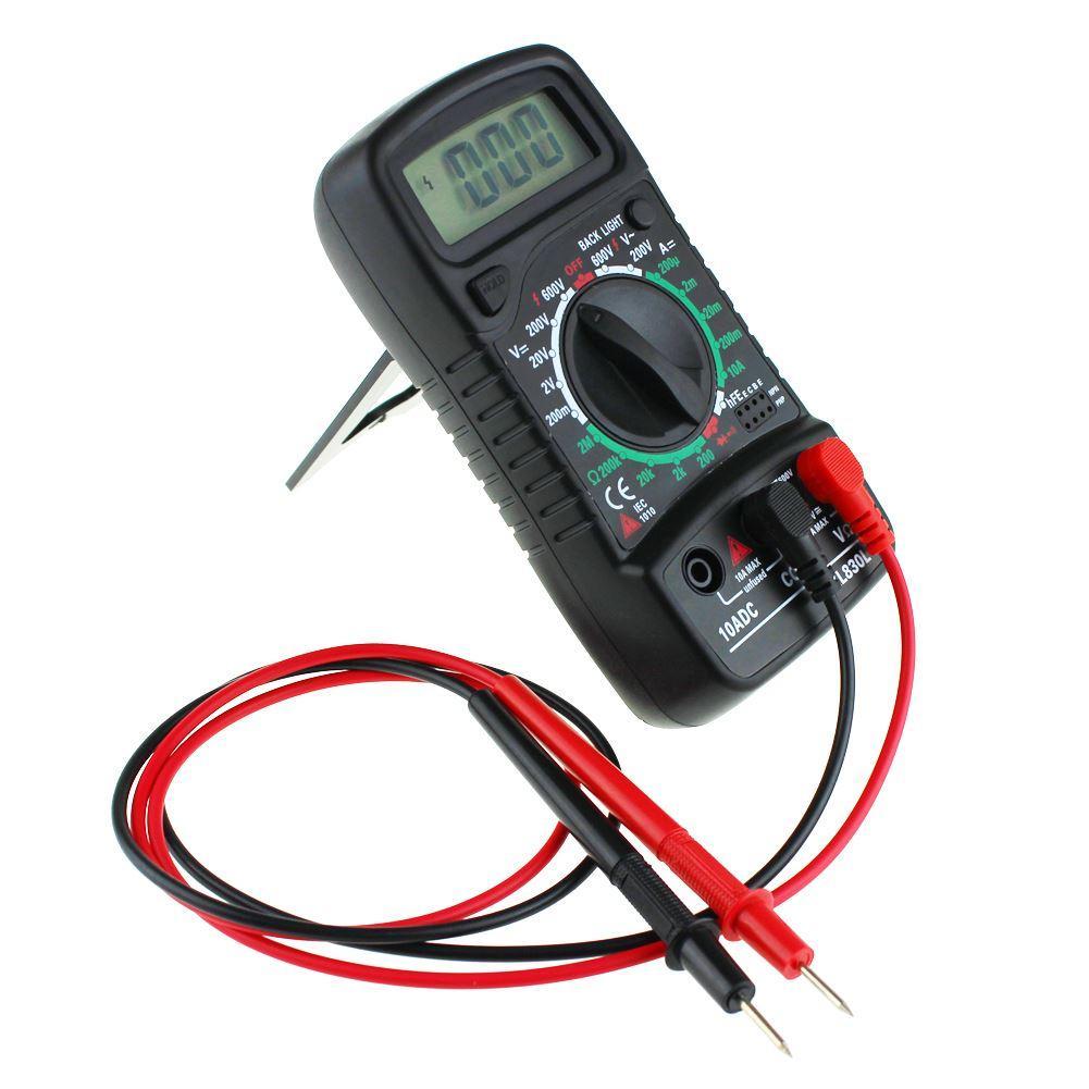 ЖК-цифровой мультиметр вольтметр амперметр AC DC ом вольтметр тестер тестовый ток черный