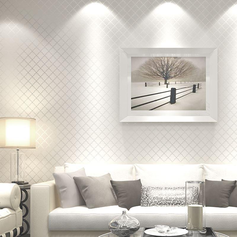 3d Gepragte Tapete Moderne Einfarbige Gitter Vliestapete Wohnzimmer Schlafzimmer Dekoration Wandkunst Tapeten