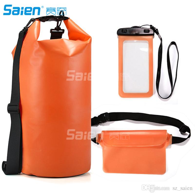 6938c9b62a3d 2019 Waterproof Dry Bags Floating Compression Stuff Sacks Gear Backpacks  For Kayaking Camping Free Bonus Phone Case And Pocket Tool From Sz saien