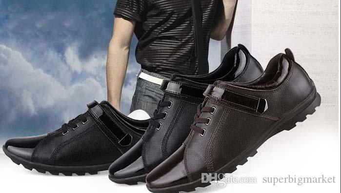 Chaussures en cuir pour hommes Mocassins en cuir véritable pour hommes Confortable Chaussures de sport pour hommes Baskets