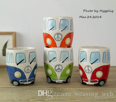 NEW Camper Van Mug cartoon Ceramic cups Puckator coffer mugs gifts for kids porcelain cups for coffee Christmas gift lucky cup