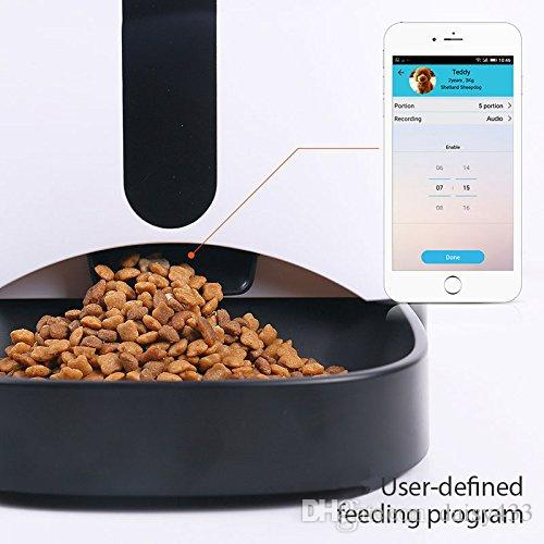Automatic Smart Pet Feeder with Wireless Camera for Small and Medium Dogs & Cats with Programmable Feeding Timer 2 Way Audio Controlled