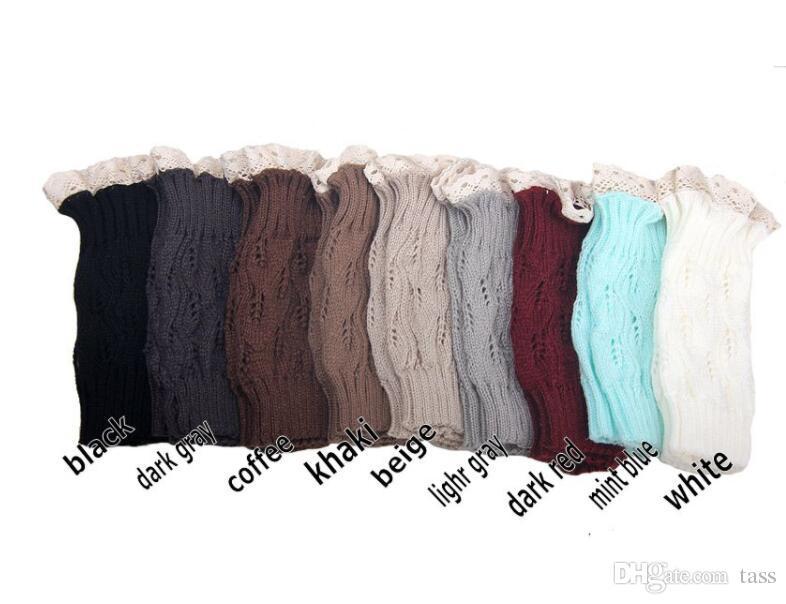 women Crochet lace boot cuffs handmade Knit leg warmer Ballet lace Boot Cuff Leg Warmers Christmas Boot Socks covers