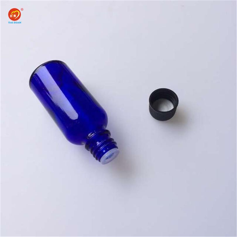 Wholesale 30ml Glass Liquid Medicine Jars With Black Cap Sealing Up