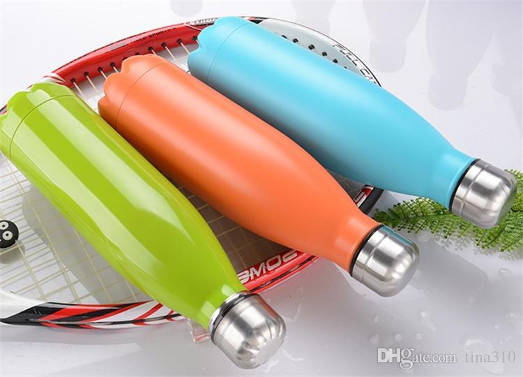 Nuovo 500ml Vacuum Cup Coke Tazza in acciaio inox Bottiglie Isolamento Coppa Thermos Moda Movimento venato B1124