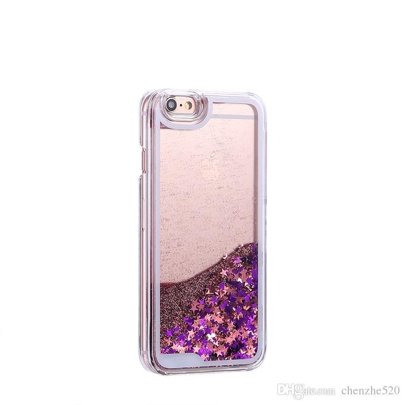 For iPhone 7Plus 7 6 6S 5 5S SE Fashion Liquid Glitter Girl Makeup Cosmetics Lipsticks Perfume Soft Phone Case Cover Coque