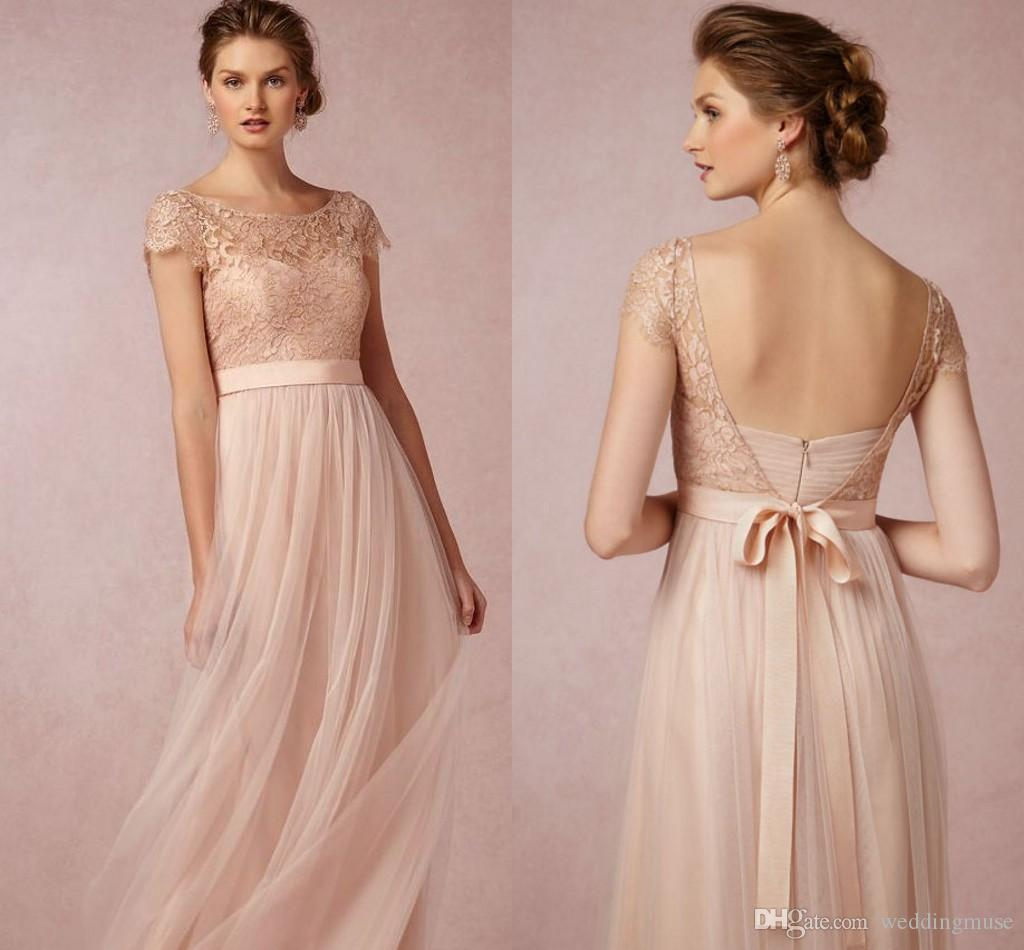 2017 hot bridesmaid dresses open back cap sleeve a line blush pink 2017 hot bridesmaid dresses open back cap sleeve a line blush pink junior country bridesmaid dresses long maid of honor dress ugly bridesmaid dress unique ombrellifo Images