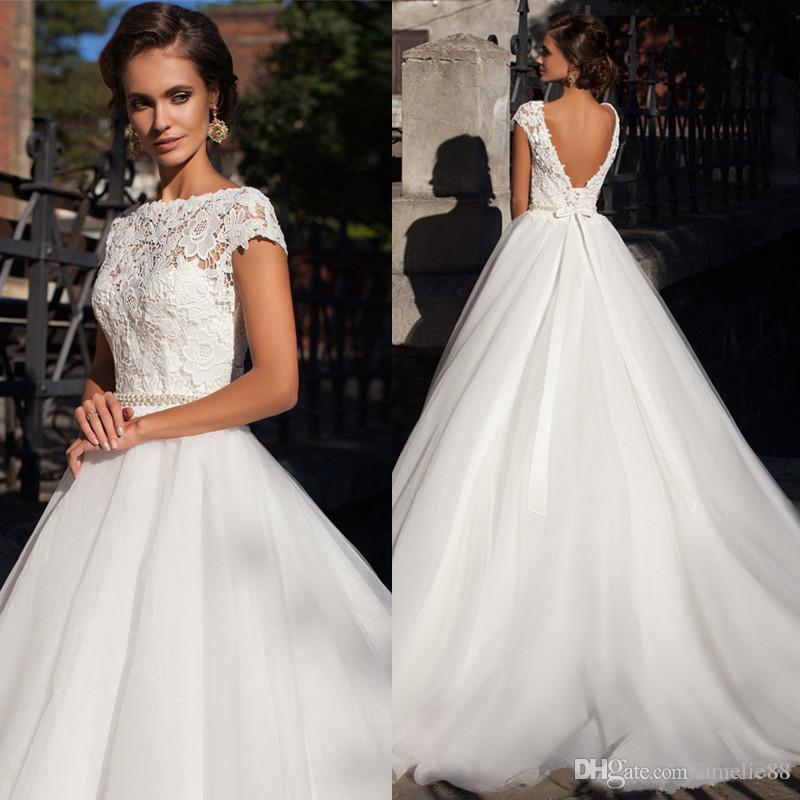 Discount Low Price But High Quality Backless Short Sleeve Ball Gown