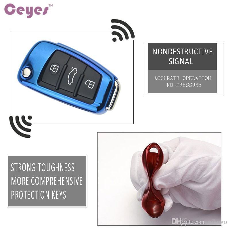 Auto Key Cover Soft TPU Key Case For Audi A1A3 A4 A5 Q7 A6 C5 C6 Car Holder Shell Remote Cover Car Styling