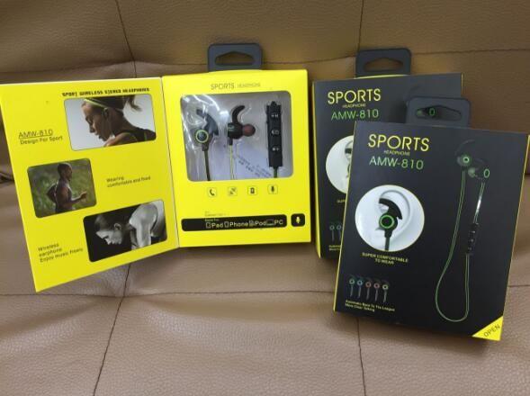 Best Bluetooth Amw 810 Earphones Wireless Sports Earbuds Stereo In Ear Headsets Ic Sports Ear