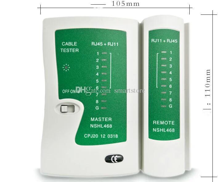 Network Cable Tester RJ11 RJ12 RJ45 BNC Test Tool UTP STP Telefono Ethernet LAN Networking Wire test misura e ispezione Tester 0001