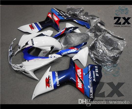 Carénages complets pour SUZUKI GSXR 600 750 2011 2012 2013 2014 2015 L3 en plastique Kit Injection Moto FairingS