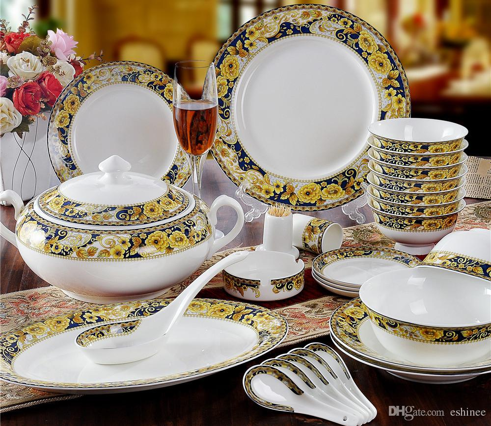 ceramic dinner set porcelain bone china dinnerware sets sale wealthy gold stoneware dinnerware. Black Bedroom Furniture Sets. Home Design Ideas