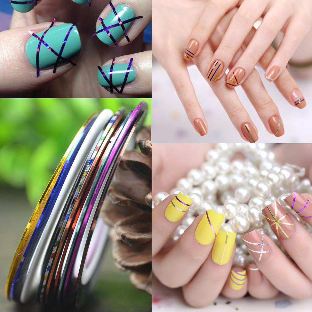 Wholesale Retail 1mm Nail Striping Tape Line For Nails Decorations