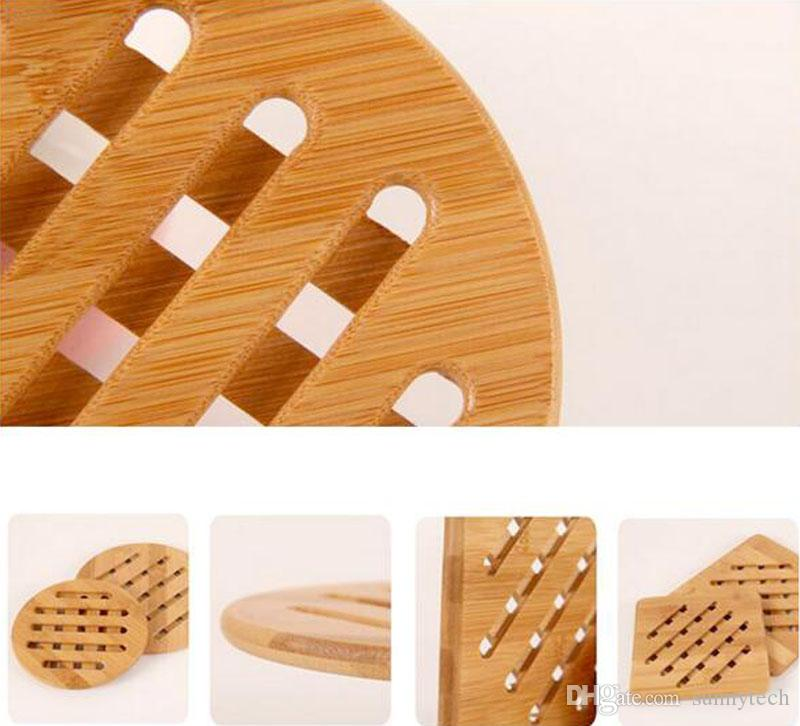 Retro Bamboo Isolamento Pad Trivet Mat Holder Pads Antiscivolo Dish Holder Tavolo Piatto Decorativo Trivet Anti Stiratura Pan Bowl Pad LZ0033