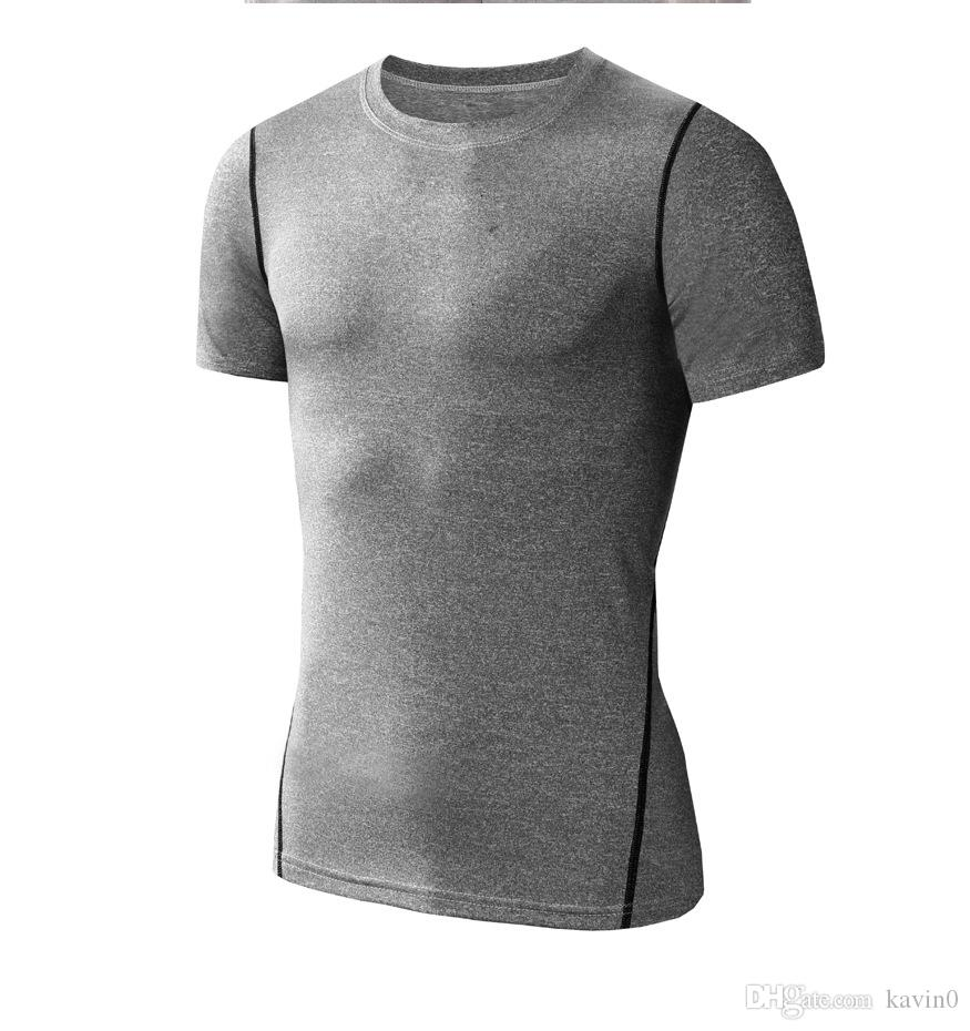 NEW 2017 outdoor Compression PRO sport quick-drying tight dress with short sleeves T-shirt vest running top male basketball render fitness