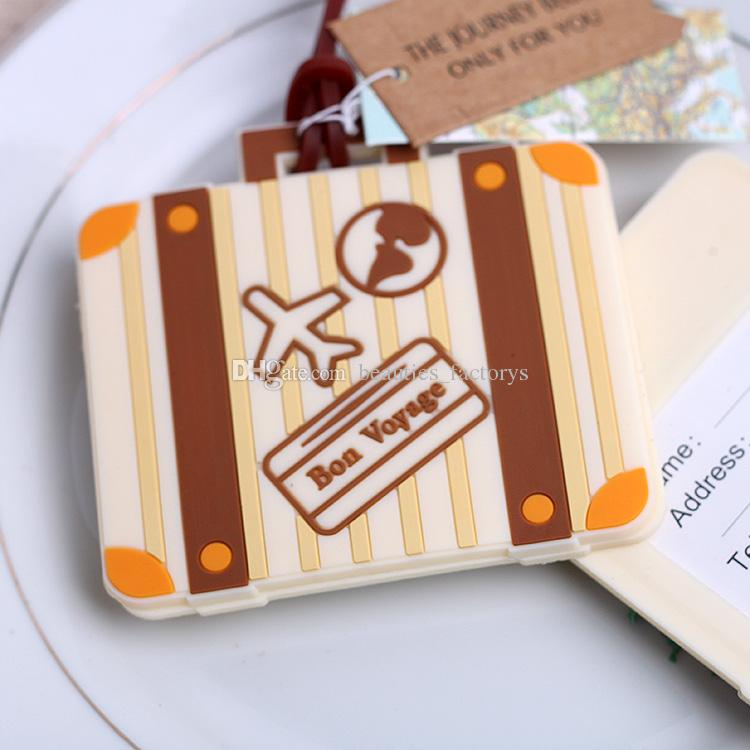 Bon Voyage Luggage Tag Wedding Favors Travel Cards Cute Gift Cheap