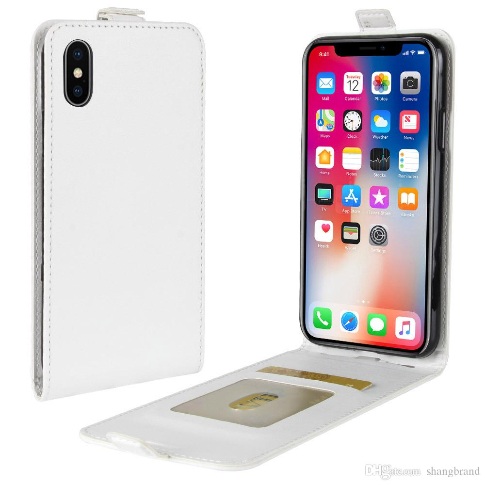 For Iphone X Wallet Cover PU Leather Cases Iphone X Case Wallet Back Cover Pouch With Card Slot Open up and down