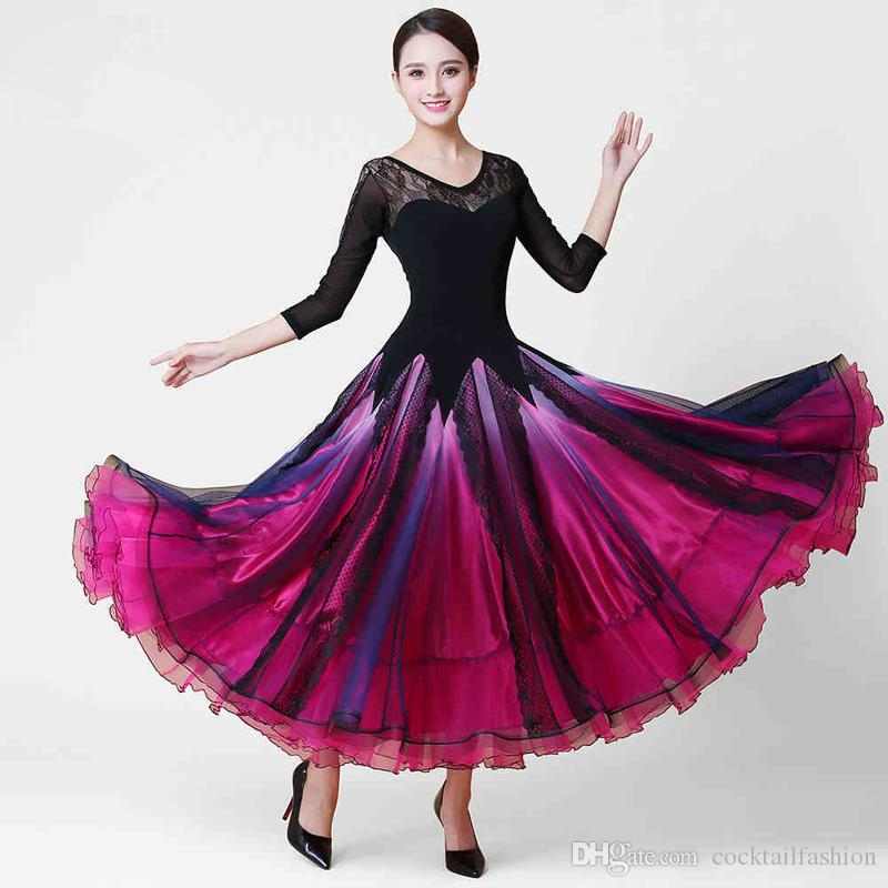 Compre Vestuario De Baile De Salón De Baile Adulto Tango Flamenco ...