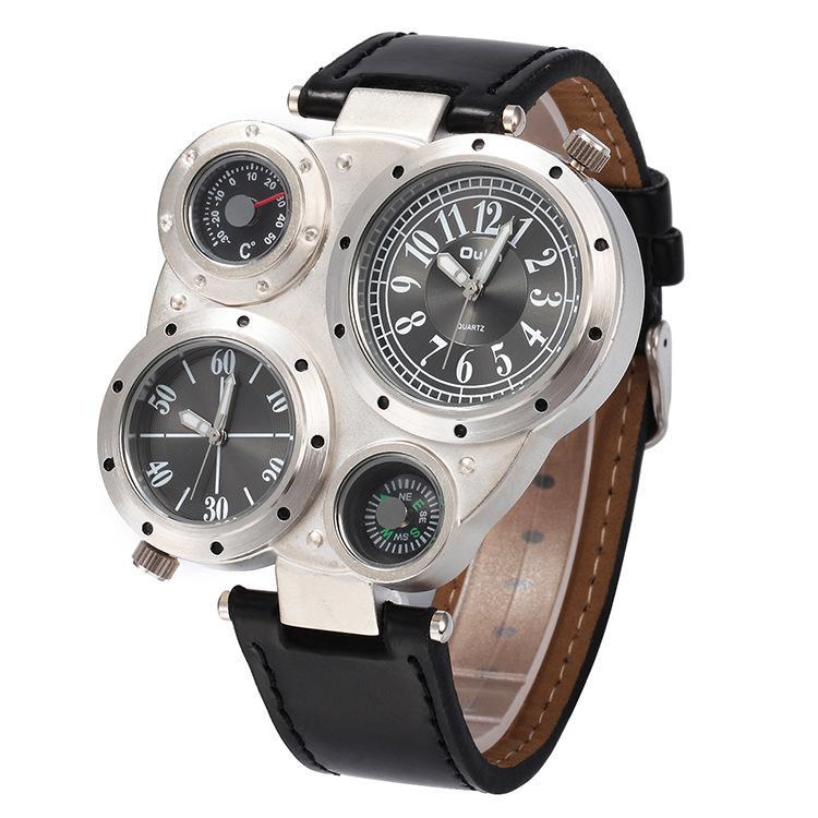 Compre Oulm Man Relojes Hombres Reloj De Cuarzo De Lujo Marca De Lujo Superior  Reloj De Pulsera De Los Hombres Correa De Cuero Ocasional Relojes Hombre A  ... c31d3d25dfd9