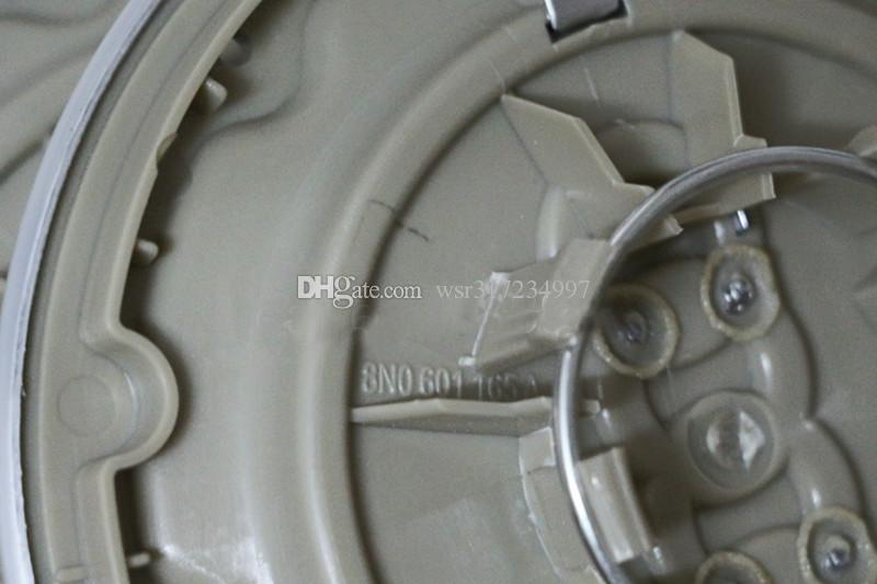4 * 146mm Car Wheel Center Cap coprimozzi Cerchi copertura 6 fori Emblema Distintivo Dell'automobile audi Fit TT 8N0601165A Spedizione gratuita