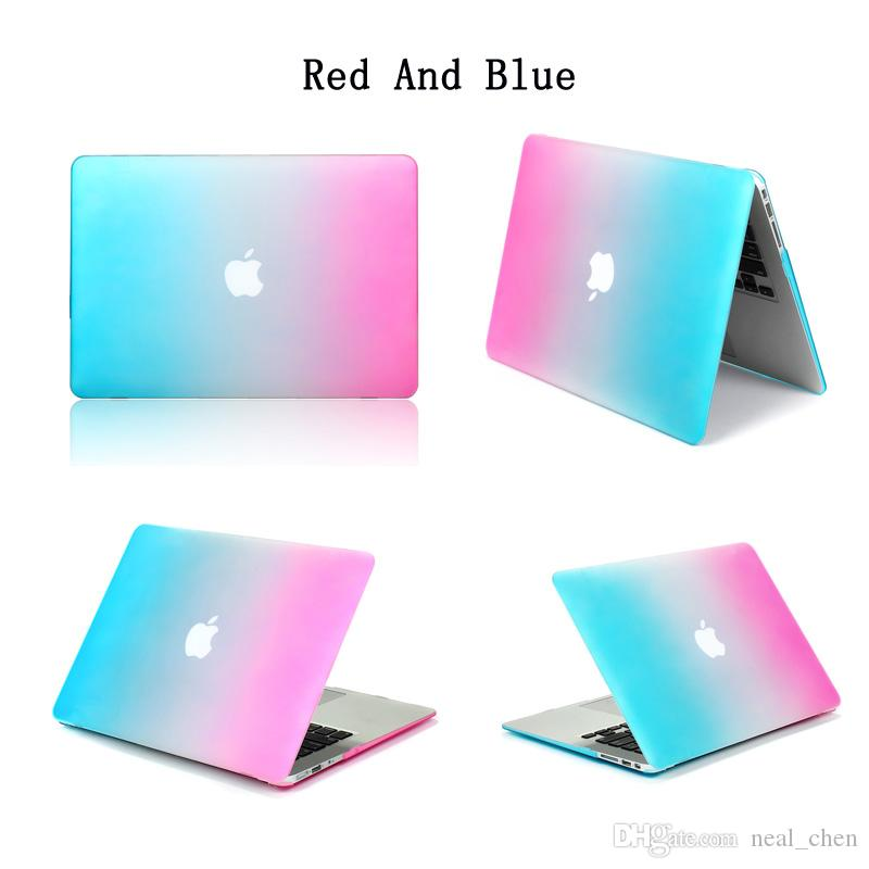 "Plastic Hard Shell Cover Case [ Rainbow ] For Apple Macbook Air Pro Retina 11.6"" 13.3"" 15.4"" A1370 A1465 A1369 A1466 A1278 1286 A1398 A1425"