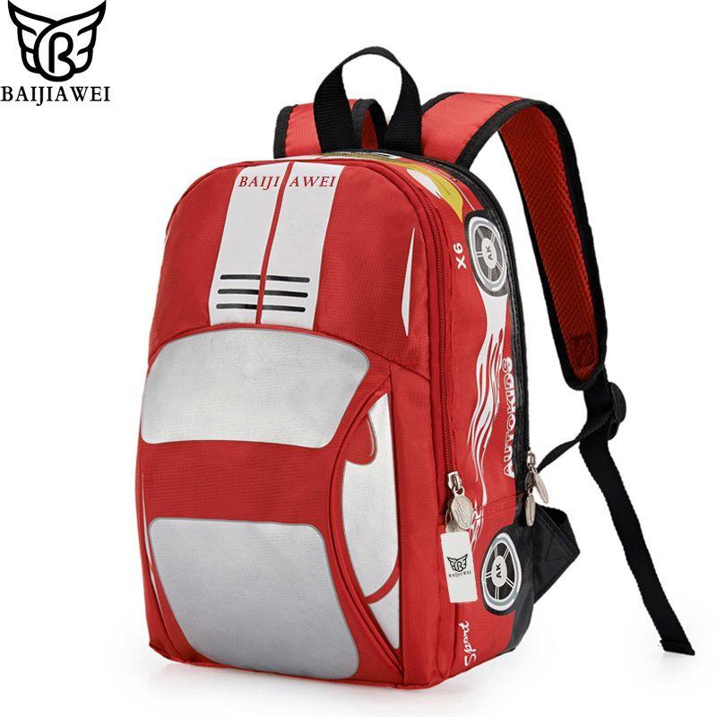 905f50b742 Wholesale BAIJIAWEI Design 3D Car Shape Backpack For Kids School Backpacks  In Primary School For Children Boys Girl Double Shoulder Bag Backpack With  Wheels ...