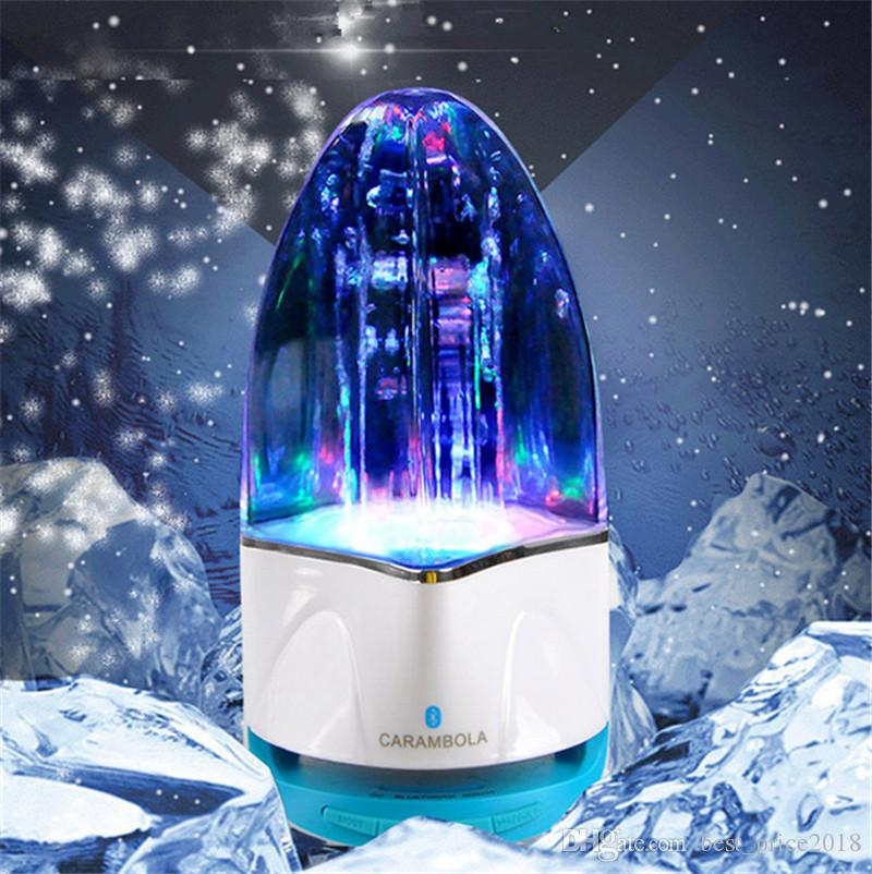 Free DHL wireless Bluetooth Water Dancing Speaker Subwoofer LED light Music Speaker With TF Card Stereo Bass For Iphone Android phone PC
