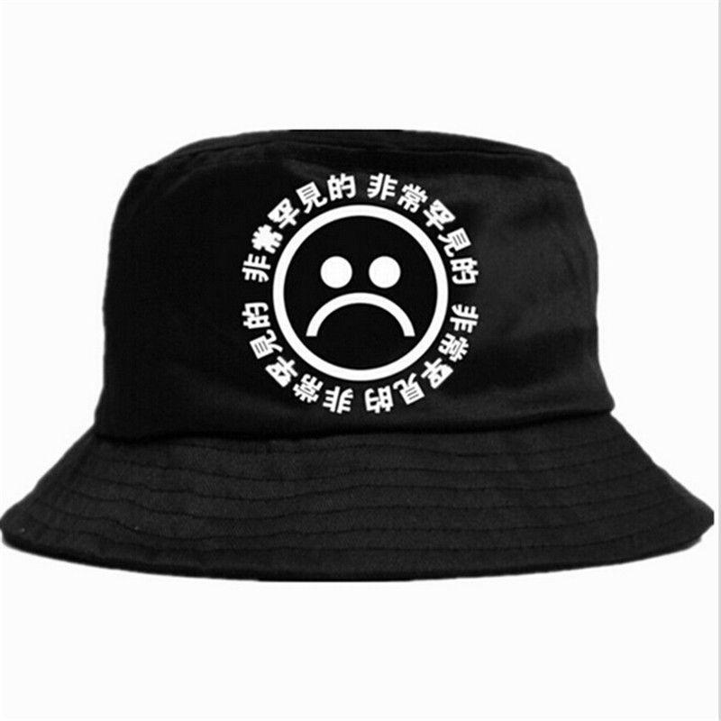 b6e7f1d1cd4 Boonie Flat Fishman Hat Summer KYC Vintage Black Bucket Hat Sad Boys ...