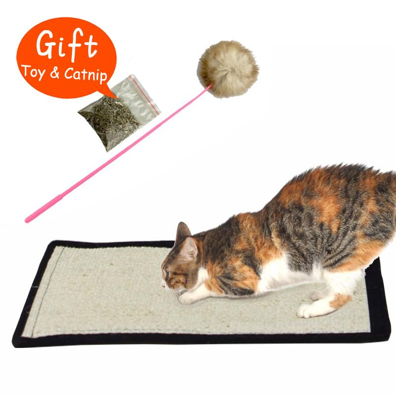 natural sisal cat scratching post toy for cats catnip tower climbing tree cat scratch pad board protecting furniture foot from tanzhilian - Cat Scratching Post