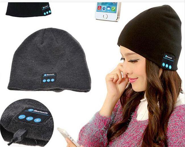 Soft Warm Beanie Bluetooth Music Hat Cap with Stereo Headphone Headset Speaker Wireless Mic Hands-free Wireless Microphone