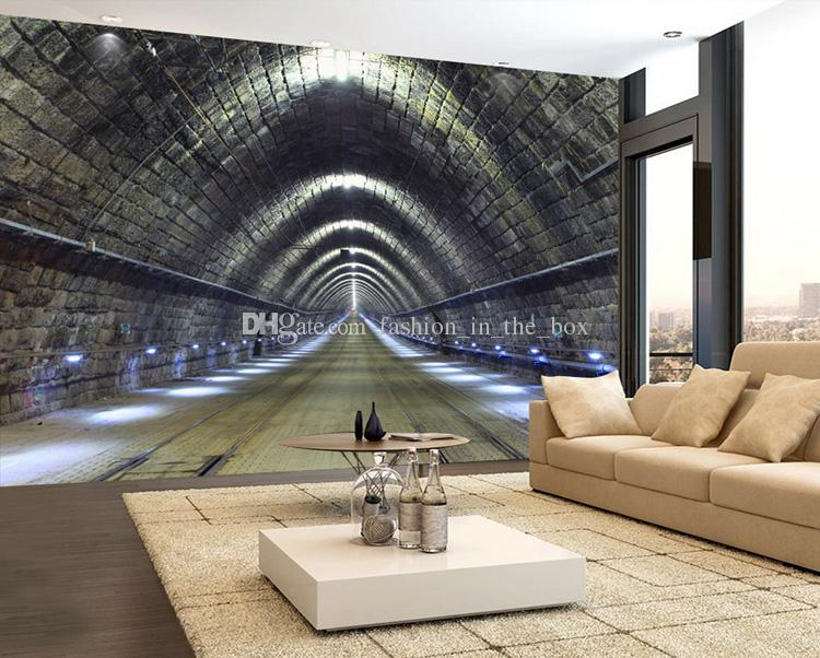 3D Outspread space Wallpaper Tunnel Photo Wallpaper Custom 3D Wall Mural industrial style Bedroom Living room Restaurant Bar Art Room Decor