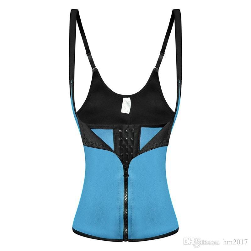 4 farben Reißverschluss Haken Frauen Schwarz Latex Taille Trainer Korsett Weste Stahl Knochen Taille Cincher Body Shaper Mieder -