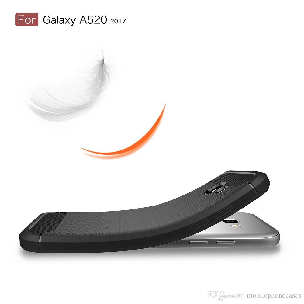 NEW Mobiltelefonkasten für Samsung Galaxy A5 2017 TPU-Carbon-Faser gebürstet dünnen Fall für Galaxy A5 2017 Telefonabdeckung 2017 heißen Verkauf