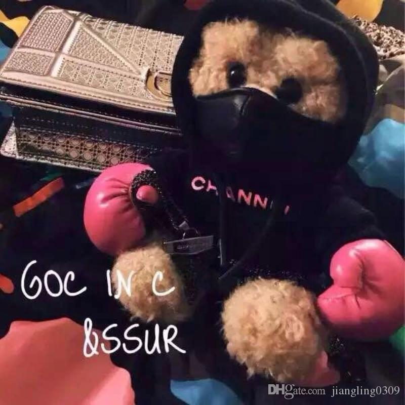 New Hong Kong GOC IN C & SSUR boxing bear mobile power bank 8000mah Plush pink Teddy Energy Bear Girls power bank for iphone