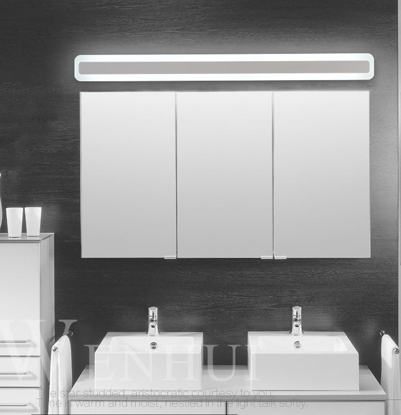 Acheter Moderne Acrylique Salle De Bains Maquillage Miroir Plomb Lumière  Salle De Bains Applique Murale Lampe Miroir Avant LED Éclairage Étanche  Antifogging ...