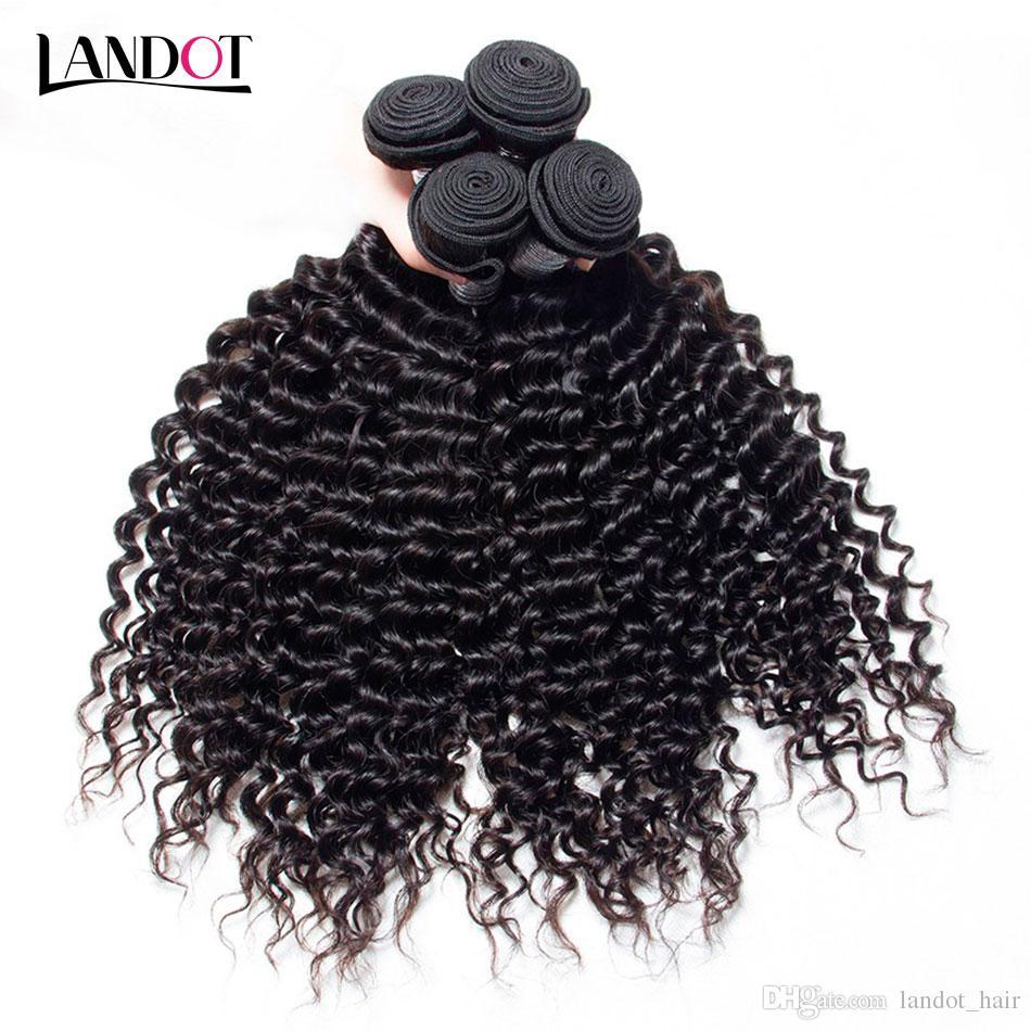 페루 말레이시아 인디언 브라질 버진 인간의 머리카락 Weaves 3/4/5 번들 몸통 스트레이트 느슨한 깊은 킨키 곱슬 머리 레미 헤어 내츄럴 블랙