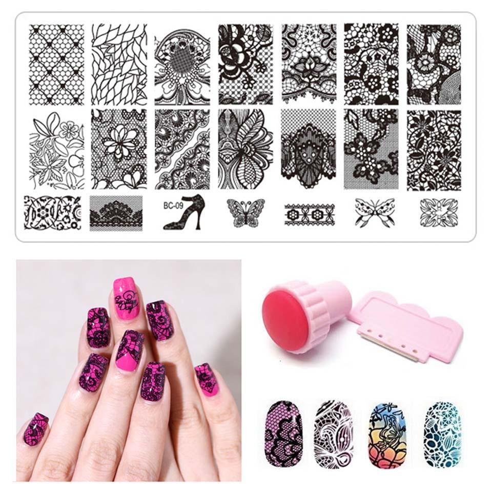 Wholesale Konad Nail Stamping Plates Stamper Art Templates Patterns For Nails Design Printing Stemping MB007