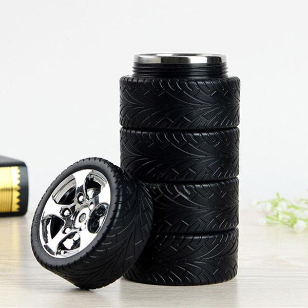 Tire Car Cup Lining My Water Bottle Creative Style Design