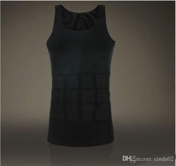 남성 슬리밍 바디 셰이퍼 밸리 지방 속옷 조끼 셔츠 코르셋 압축 보디 빌딩 Underwear1