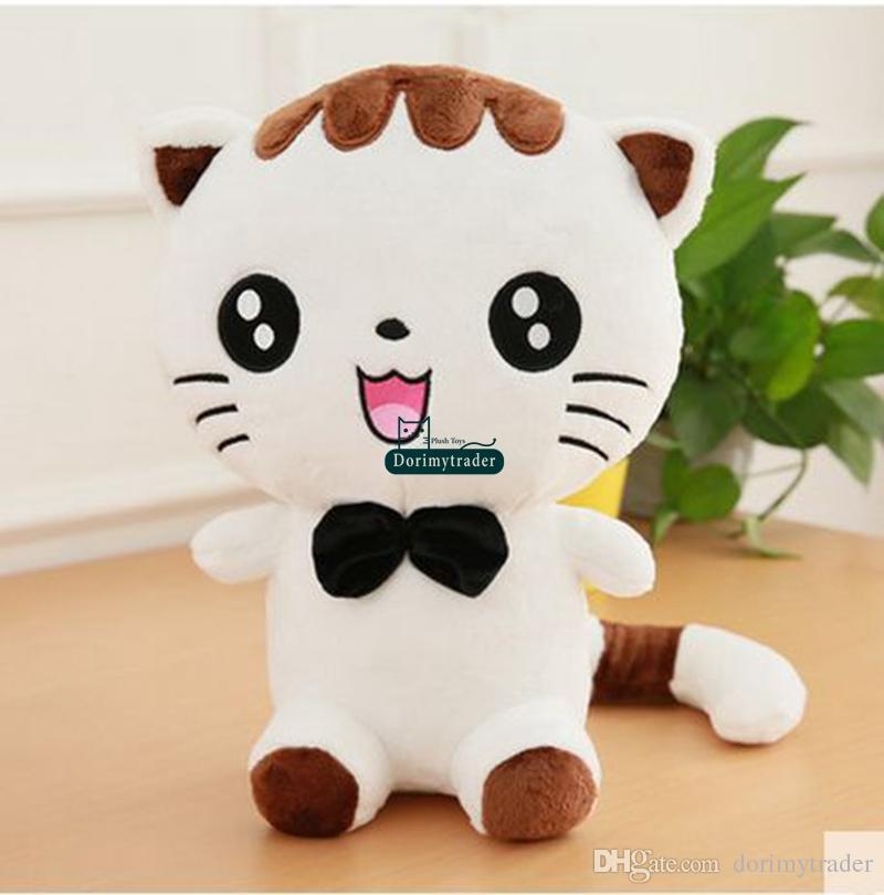 Dorimytrader Jumbo 100 cm Lindo Macio Gato Dos Desenhos Animados Brinquedo de Pelúcia 39 '' Animal Enorme Gatos De Pelúcia Boneca Travesseiro Presente Do Bebê DY61386