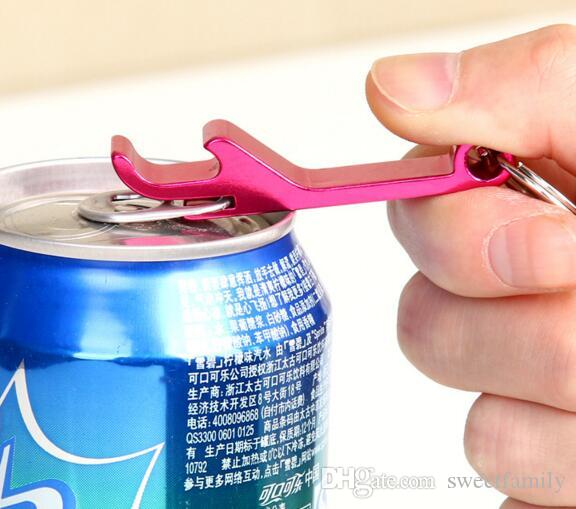 Portable Stainless Steel Bottle opener Key Chain Ring Aluminum alloy beer wine openers bar club waiter tools