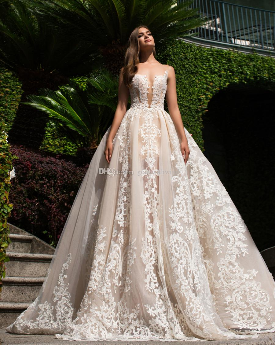 Blush nude wedding dresses 2017 milla nova bridal wedding gowns 3d see larger image junglespirit Gallery