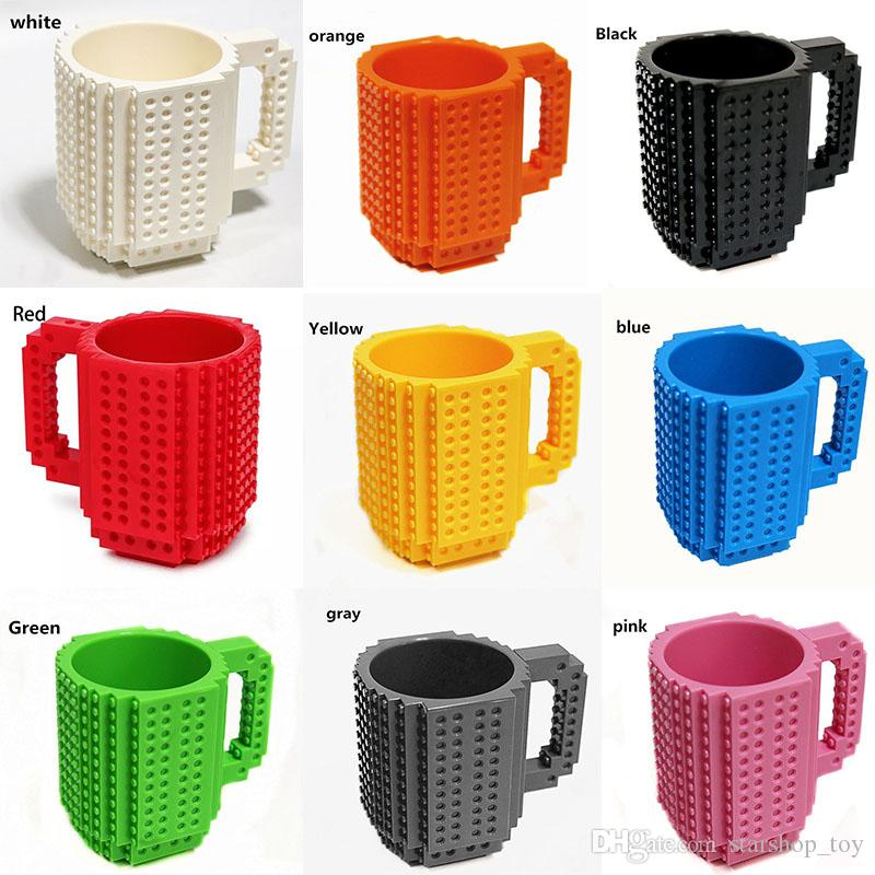 Building Blocks Mugs DIY Creative Le go Drink Coffee Cup Men Women Children Personalized Decompression Water Cup Have stock WX-C13